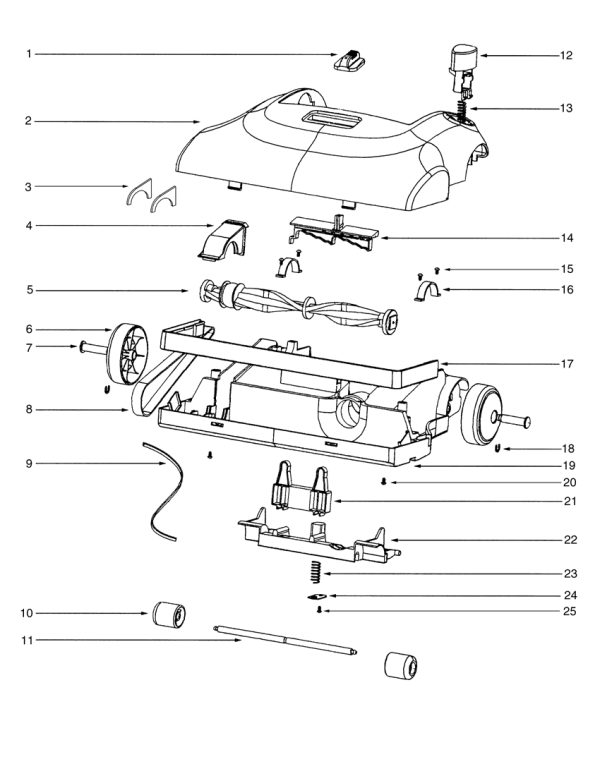 Eureka 2272 Vacuum Repair Parts & Diagrams