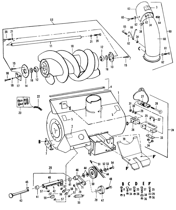 Homelite Snow Thrower Attachment UT-36040 Parts and