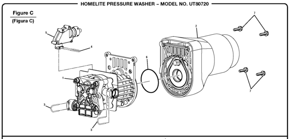 Homelite UT80720 Pressure Washer Parts and Accessories