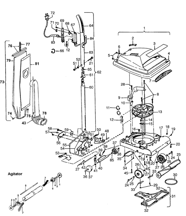 Hoover C1515-- Parts and Accessories- PartsWarehouse