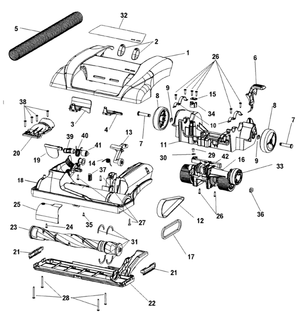Hoover U6618 Parts and Accessories- PartsWarehouse