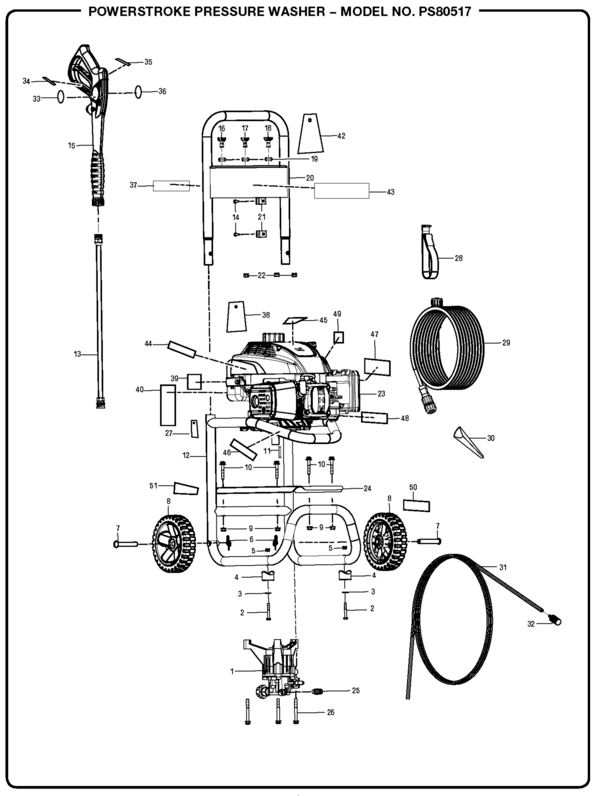 PowerStroke PS80517 Pressure Washer Parts and Accessories