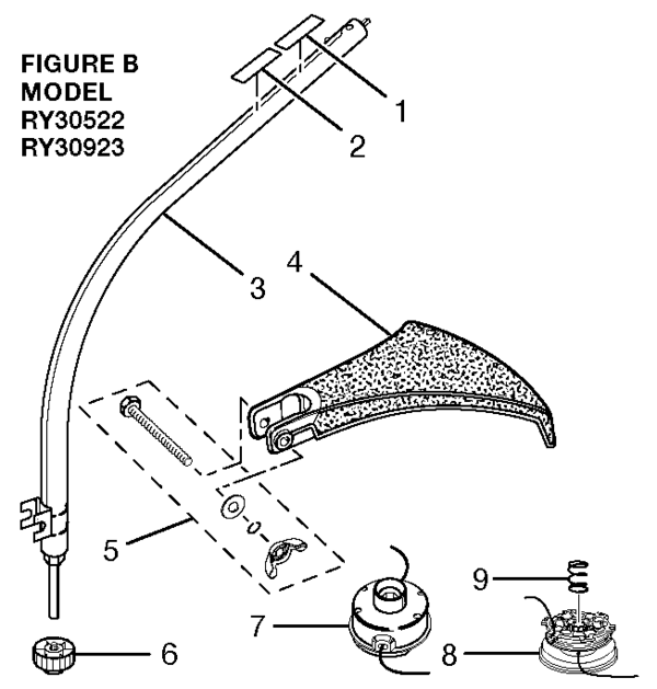 Ryobi RY30522 30cc String Trimmer Parts and Accessories