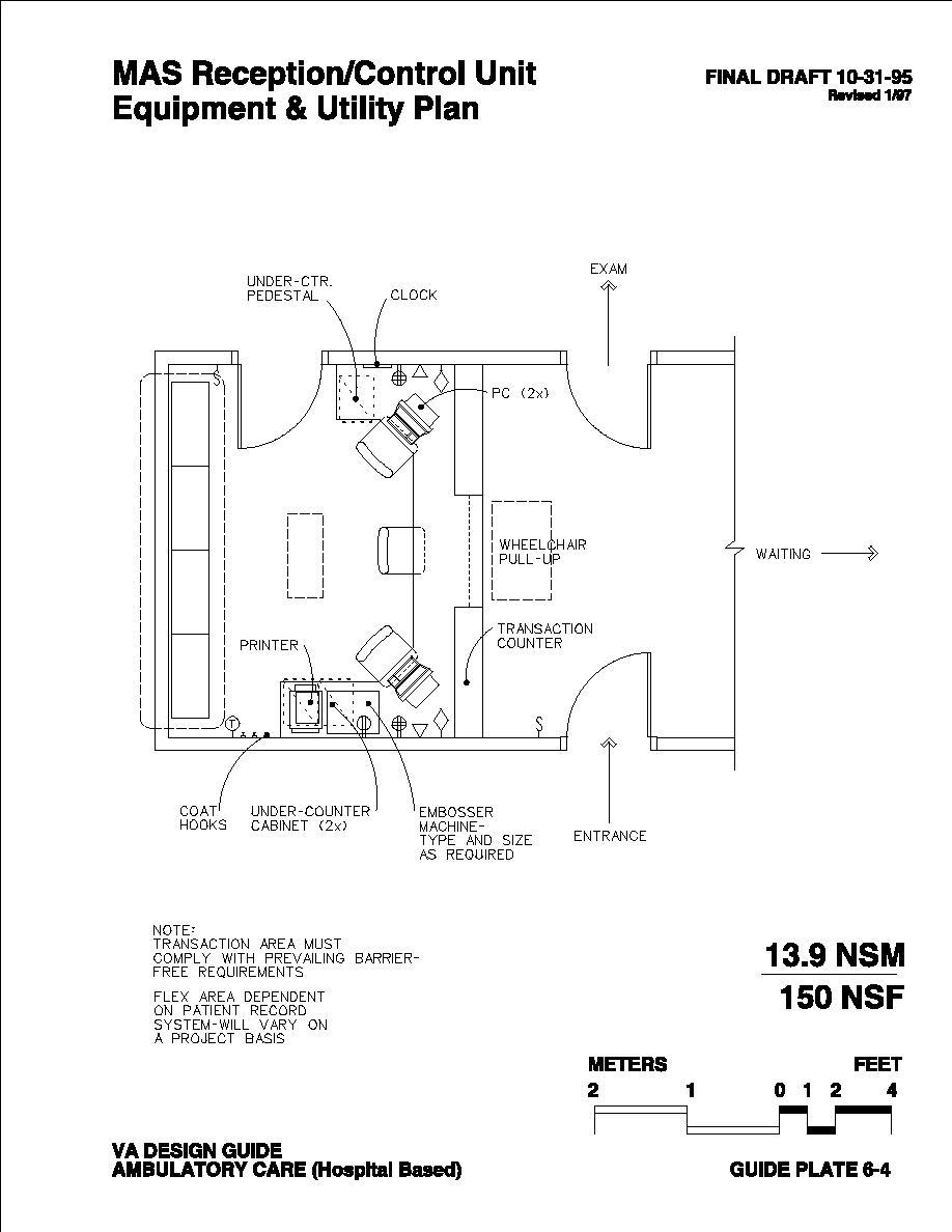 MAS Reception/Control Unit Equipment & Utility Plan