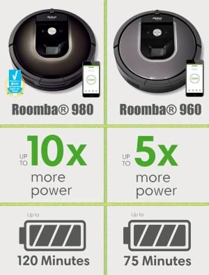 iRobot Roomba 980 vs 960