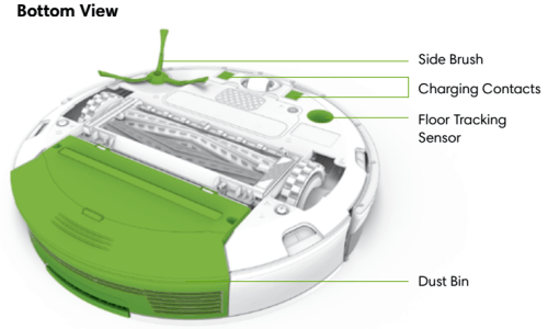 iRobot Roomba 900 bottom view