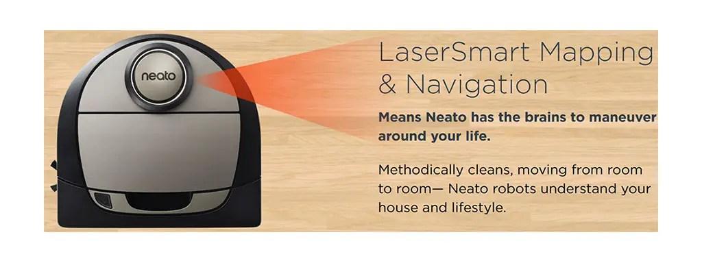 Neato LaserSmart navigation