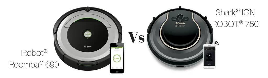 Shark ION ROBOT RV750 vs iRobot Roomba 690 Comparison ... - photo#25