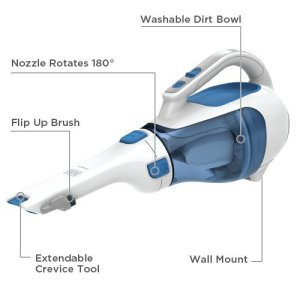 Black and Decker HHVI320JR02 Dustbuster Cordless Lithium Hand Vacuum Crevice Tool