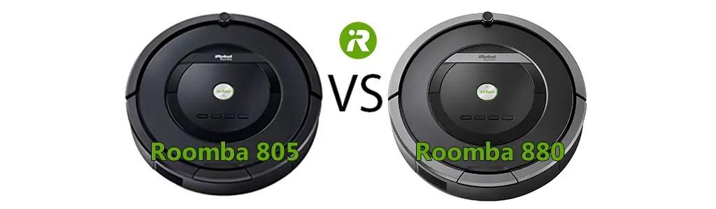 iRobot Roomba 805 vs 880