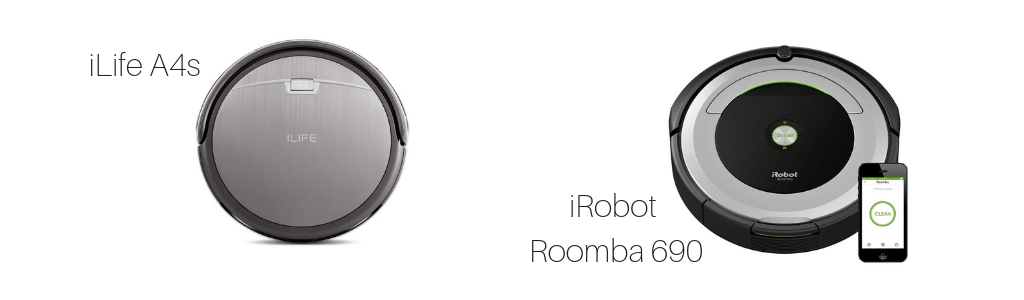 iLife A4s, iRobot, Roomba 690, Mid-Range and Entry-Level Models Compared, Vacuum Specifications, Vacuum Fanatics
