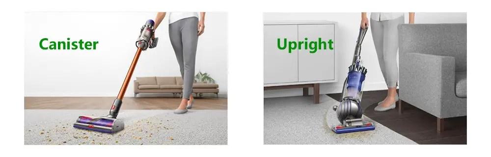Dyson Canister vs Upright