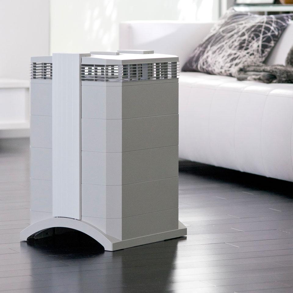 IQAir HealthPro air purifier in living room