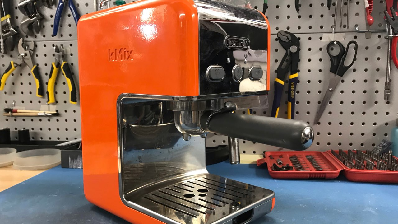 DeLonghi kMix espresso machine before repair