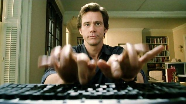 Jim Carry Bruce Almighty Computer scene