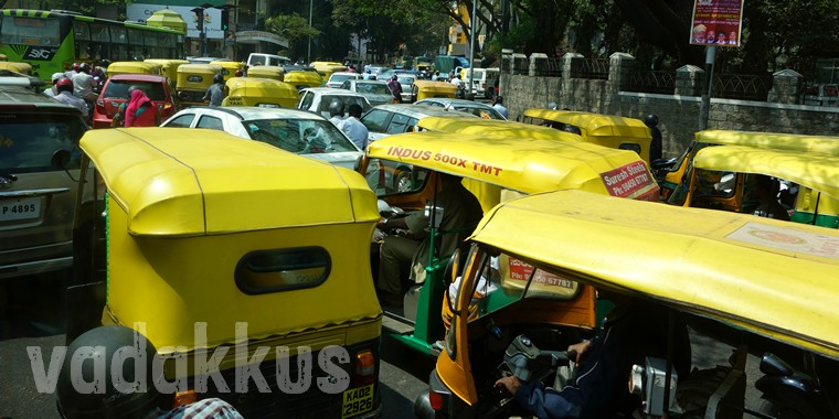 Bangalore autorickshaw traffic jam