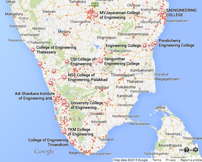 map-of-engineering-colleges-in-south-india