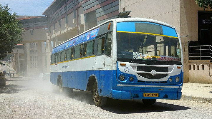 BMTC Bus Dusty Roads