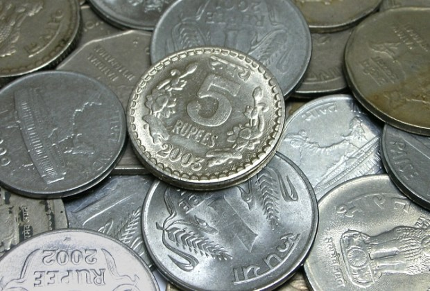 indian currency - coins of different denominations