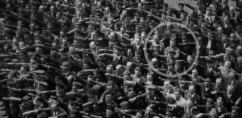 August Landmesser was a non-conformist too - but only because the Nazis tried to take away his wife.