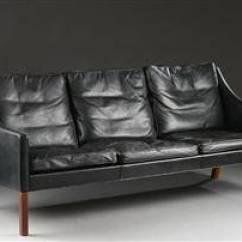 Borge Mogensen Sofa Model 2209 White Tufted Leather Sectional Slutpris For 3 Personers Tre