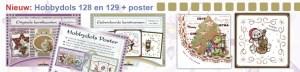 Hobbydols 128 en 129 en bijbehorende poster
