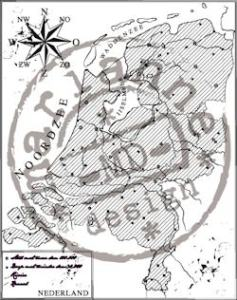 cs0911 Clear stamp map of Holland