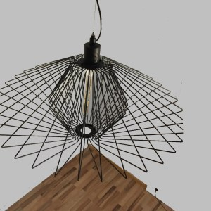 lámpara varilla metal zafiro