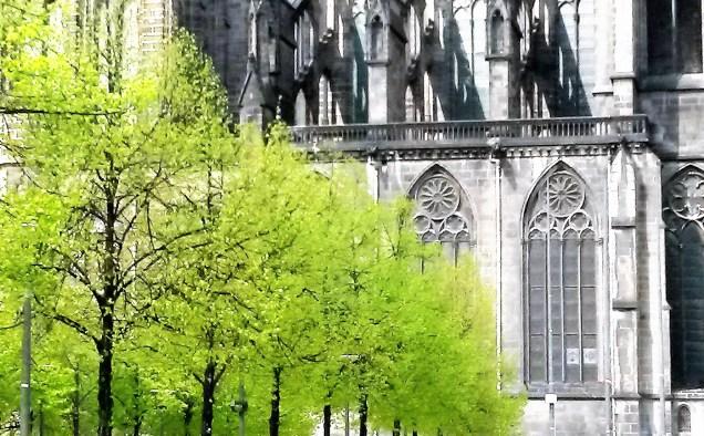 place de la Victoire et cathédrale, Clermont-Ferrand