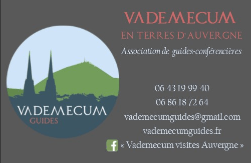 Vademecum des guides touristiques pour des visites guidées en Auvergne