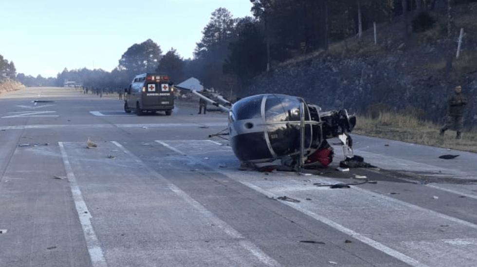 Cae helicóptero de SEDENA en Chihuahua
