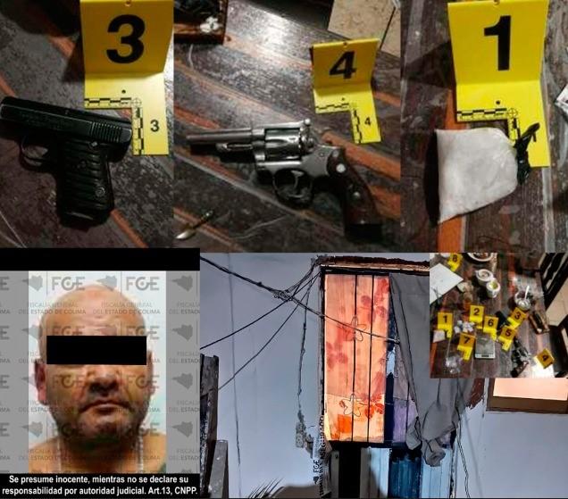 FGE asegura armas y droga en cateo en la colonia Bonanza
