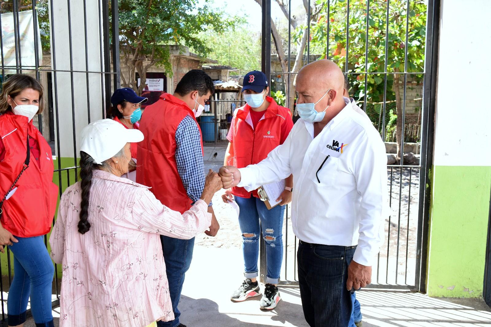 Felipe Michel visita a ciudadanos de Zacualpan como primera acción de campaña