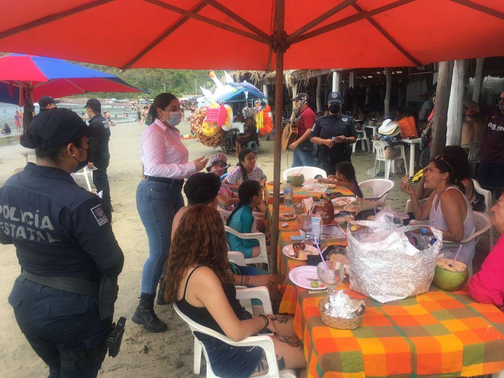 Policía de proximidad realiza recorridos en la ciudad de Manzanillo
