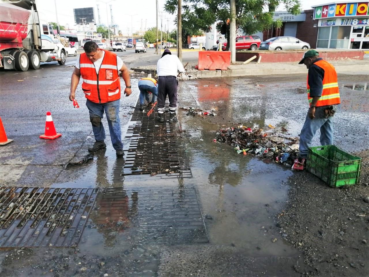 Una volcadura, 3 árboles caídos y encharcamientos, saldo de la lluvia: PC y Bomberos de Manzanillo