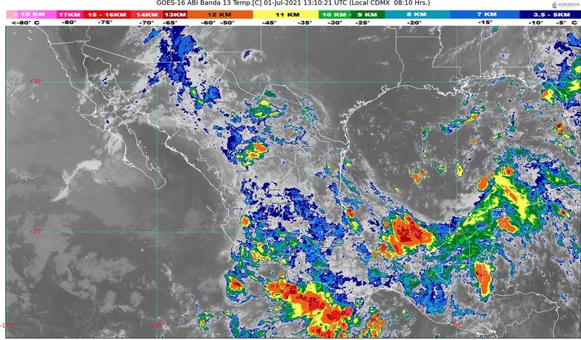 Continuarán presentándose lluvias en el estado de Colima