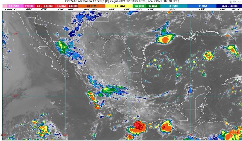 Este martes, se registrarán lluvias fuertes en Colima