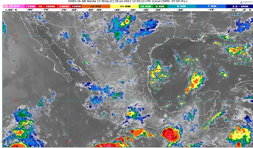 Continuarán presentándose lluvias fuertes en el estado de Colima, este miércoles