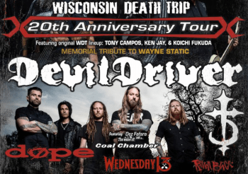 DEVILDRIVER On Tour Now with Static-X; 'Wisconsin Death Trip' 20th Anniversary and Memorial Tribute To Wayne Static