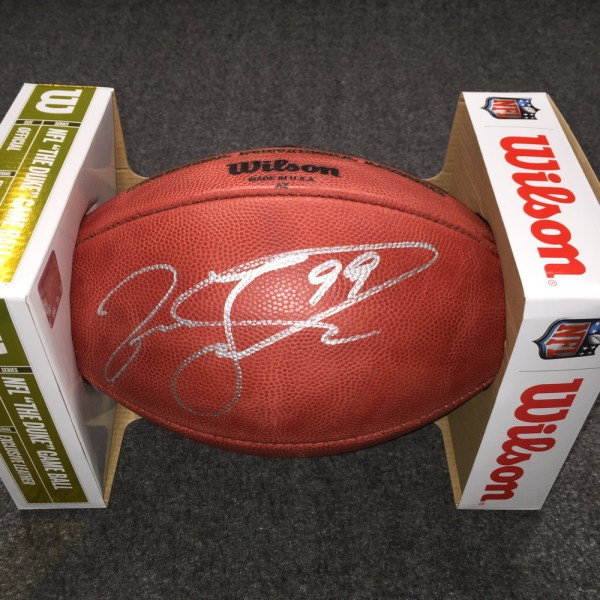 Nfl Auction - Dolphins Jason Taylor Signed Authentic Football