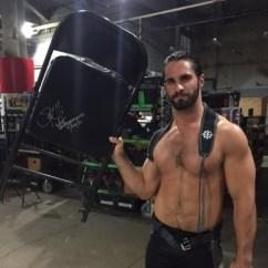Steel Chair In Wwe Beach Towel Clips Canada Seth Rollins Used Signed Battleground 07 24 16