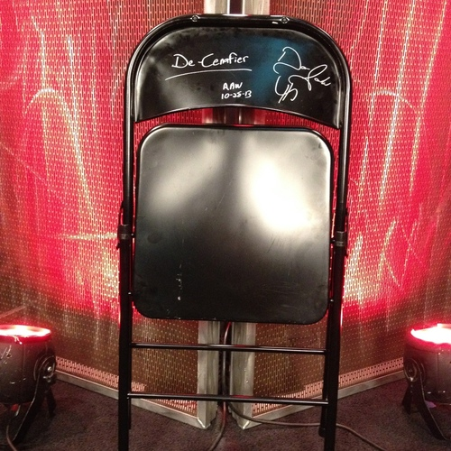 steel chair in wwe folding card table and chairs signed used by damien sandow to attack john cena raw 11 28