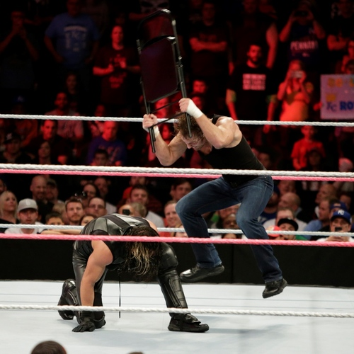 steel chair in wrestling fishing clearance signed dean ambrose raw 10 20 14 wwe auction