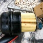 filtre et joint en place avant le montage