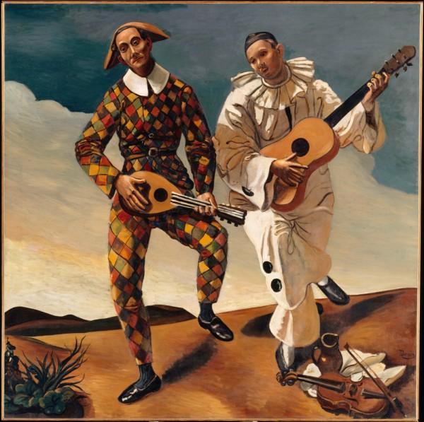 André-Derain-1880-1954-Arlequin-et-Pierrot-Huile-sur-toile-175-x-175-cm-Collection-Jean-Walter-et-Paul-Guillaume-Paris-musée-de-lOrangerie..jpg