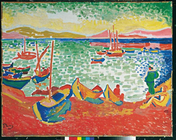 vagabondageautourdesoi-derain-wordpress-1 bateaux sabs le port de Colliour
