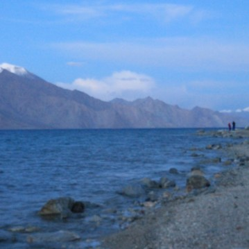 Coastline of Pangong Tso