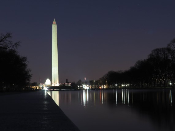 National Mall by night