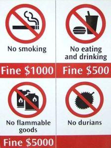 No-Durian-Sign-Singapore