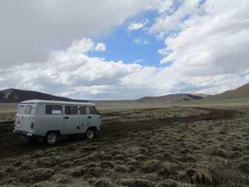 En route parmi la steppe